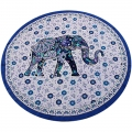 Floral Elephant Tapestry (Round)
