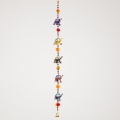 Five Hanging Elephants on Rope (Glossy)