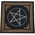 Celtic Pentacle Black Altar Cloth