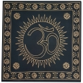 Om Sun Black Altar Cloth