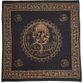 Ganesha Elephant God Black Altar Cloth