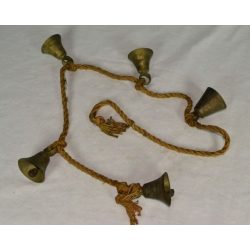 Brass Bells on Rope (Large)