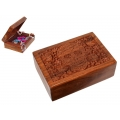 Carved Candy Skull Wood Box