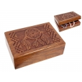 Carved Dream Catcher Wood Box