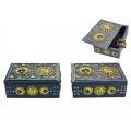 Antique Blue Sun & Moon Goddess Box