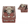 Antique Red Baphomet Symbol Box