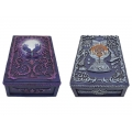 Antique Purple Fortune Teller Box