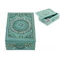 Antique Turquoise Om Lotus Box