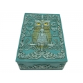Antique Turquoise Owl of Wisdom Box