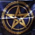 Pentagram Altar Cloth (Navy Blue)