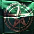 Pentagram Altar Cloth (Green)