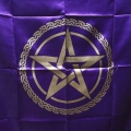 Pentagram Altar Cloth (Purple)