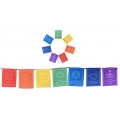 7 Prayer Flags with Seven Chakra Symbols on Rope (Large)