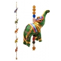Five Hanging Elephants on Rope (Fabric)