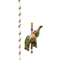 Nine Hanging Elephants on Rope (Velvet)