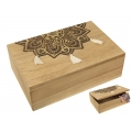 BoHo/Mandala Design Box with Tassels (Gold)