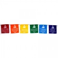 Chinese Buddha Verses Prayer Flags on Rope (Small)