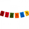 Chinese Lucky Symbols Prayer Flags on Rope (Large)