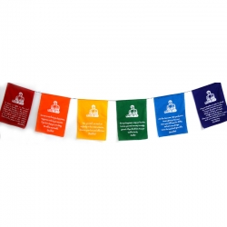 Chinese Buddha Verses Prayer Flags on Rope (Large)