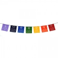 Chinese 7 Chakra Symbols Prayer Flags on Rope (Large)