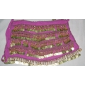 Belly Dancing Scarf with Coins (Pink)
