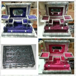 Handcrafted Metal Jewellery Box (Medium)