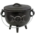 Cast Iron Cauldron Herb/Resin Burner (Triple Moon)