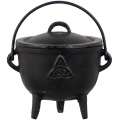 Cast Iron Cauldron Herb/Resin Burner (Triquetra)