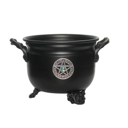 Metal Cauldron Herb/Resin Burner (Pentagram)