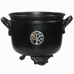 Metal Cauldron Herb/Resin Burner (Tree of Life)