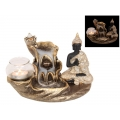 Buddha Waterfall Backflow Incense Burner & Candle Holder