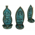 Blue Buddha Incense Burner Wall Plaque