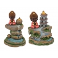 Buddha Meditating & Waterfall Backflow Incense Burner