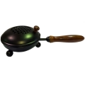 Cast Iron Herb/Resin Burner with Handle (Large)