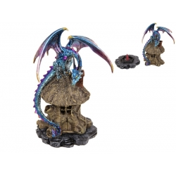 Dragon on Tree House Incense Cone Burner
