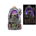 Dragons Den Light Up Geode Cave Backflow Incense Burner