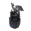 Dragon on Castle Backflow Incense Burner