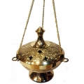 Brass Hanging Herb/Resin Burner with Chain