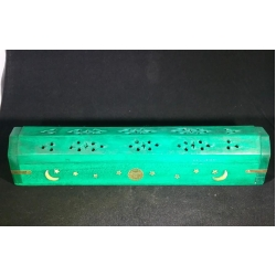 Incense Burner - Sun, Moon & Stars (Light Green)