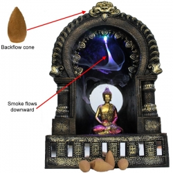 Buddha Backflow Incense Burner & Light Up Temple