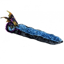 Dragon Guardian & Geode Incense Burner