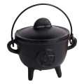 Cast Iron Cauldron Herb/Resin Burner (Pentagram)
