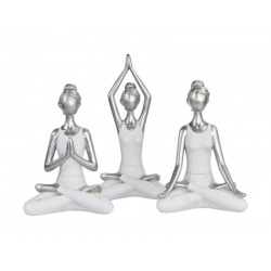 Silver & White Yoga Lady