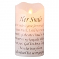 """Her Smile"" Memorial Light Up LED Candle"