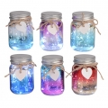 Shimmer Heart Jar LED Night Light (Small)