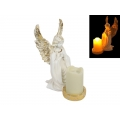 Angel Praying with Light Up LED Candle