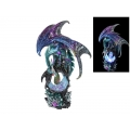 Dragon Guardian on Light Up USB Crystal Cave (Large)