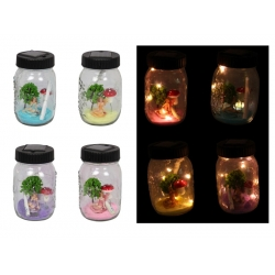 Fairy Garden Wish Jar with Solar Lights