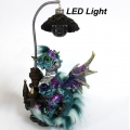 Dragon on Dark Castle LED Lamp