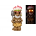 Tiki Warrior with Solar Light Eyes